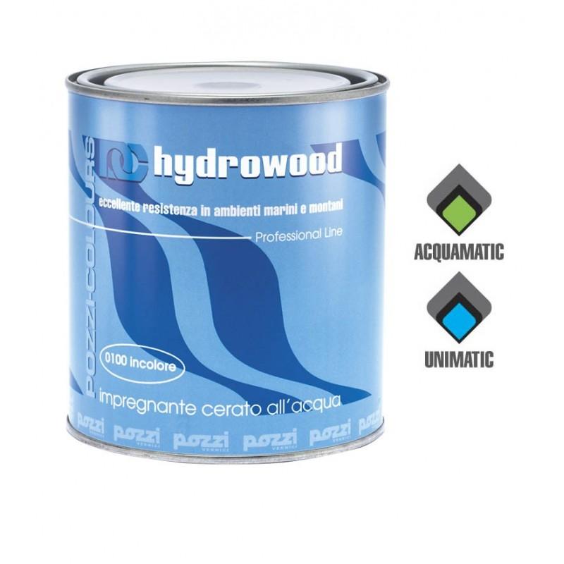 Impregnante Acrilico all'acqua Noce Scuro Lt.0,750 HYDROWOOD Pozzi Colours