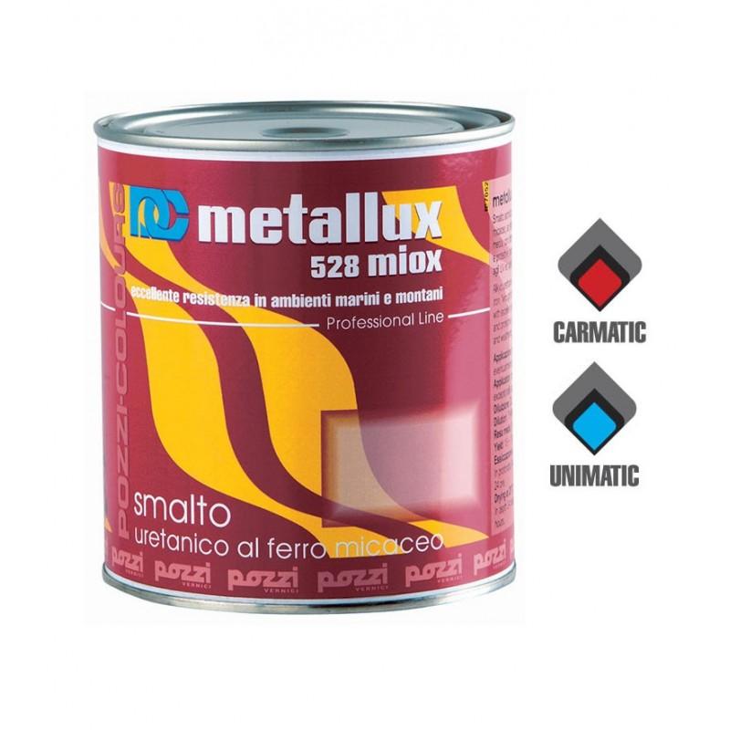 Smalto Ferromicaceo al Solvente Nero Lt.0,750 MIOX Pozzi Colours