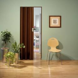 Porta A Soffietto In PVC Noce