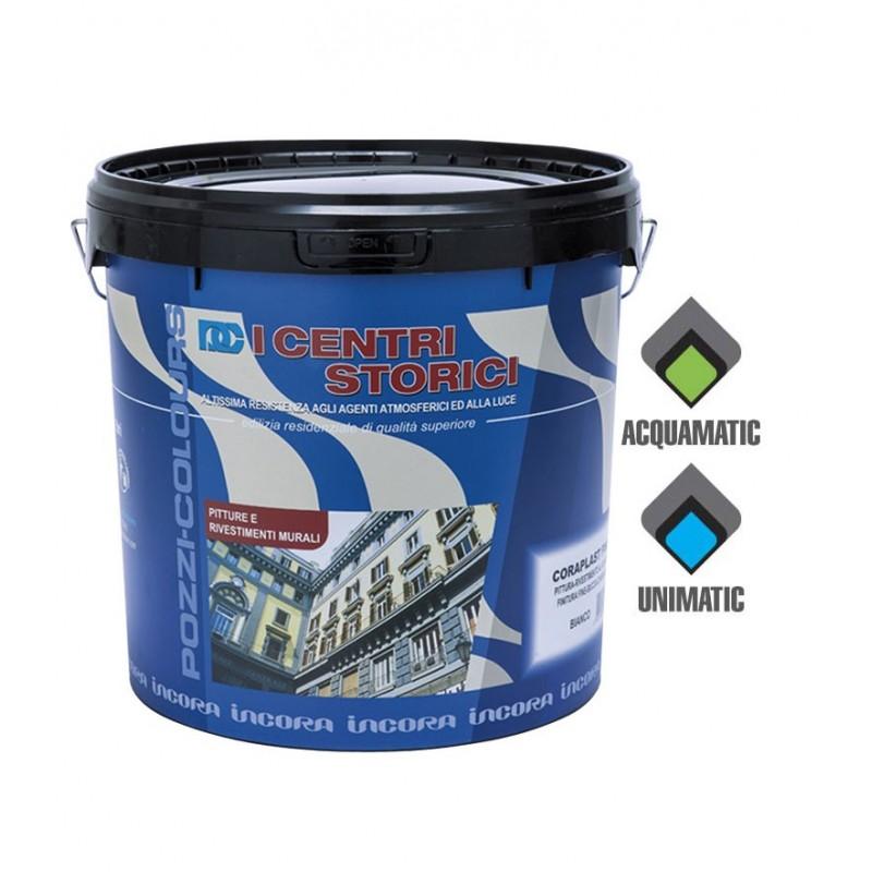 Pittura al Quarzo Bianco Lt.4 CORAPLAST FINE Pozzi Colours